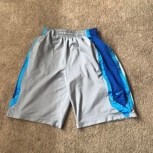 Blue and Gray Nike dri fit shorts! Size L